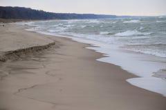 密歇根湖海岸 免版税库存图片