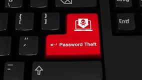 110 密码偷窃在键盘按钮的自转行动 股票录像