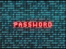 密码和二进制编码 库存图片