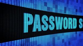 密码安全边发短信给移动LED墙板显示标志板 影视素材