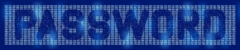 密码背景 免版税库存图片
