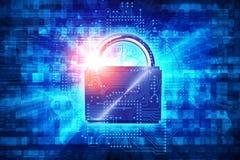 密码被保护的通入 库存图片