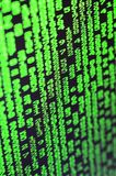 密码选择宏指令在办公计算机的显示器的 乱砍一位个人数据老板的保护的概念 库存图片