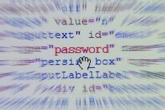 密码 图库摄影