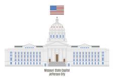 密苏里状态国会大厦在杰斐逊城 皇族释放例证