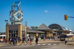 密西沙加市中心运输终端 库存图片