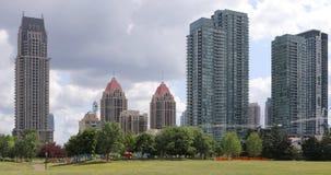 密西沙加,加拿大的看法地平线 免版税图库摄影