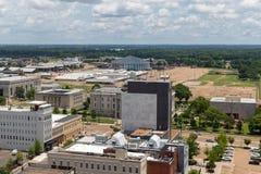 密西西比大剧场和街市杰克逊 图库摄影