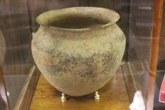 密西西比州人文化- Etowah土墩陶瓷瓦器  库存图片