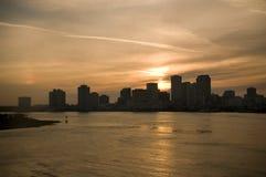 密西西比新的河场面 免版税库存图片