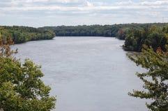 密西西比河从上面 库存照片