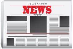从密西西比状态的报纸新闻 皇族释放例证