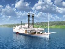 密西西比的汽船 免版税库存图片