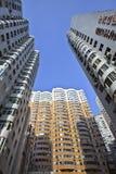密集的公寓在大连。 免版税库存图片
