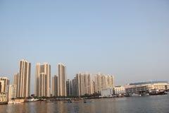 密集的城市住宅在深圳,中国,亚洲 免版税图库摄影