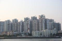 密集的城市住宅在深圳,中国,亚洲 库存照片