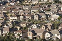 密集的郊区住房 免版税库存图片