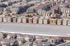 密集的郊区居民 免版税库存图片