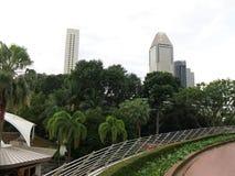 富丽华市中心 现代高层建筑物 建筑学和艺术在现代文明 库存图片