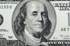 富兰克林特写镜头 免版税库存照片