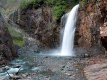 富兰克林秋天,在太平洋西北地区的瀑布 免版税图库摄影