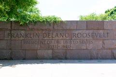 富兰克林・德拉诺・罗斯福纪念品华盛顿 免版税库存图片