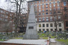 总统富兰克林Family Grave在波士顿-波士顿,马萨诸塞- 2017年4月3日 库存照片
