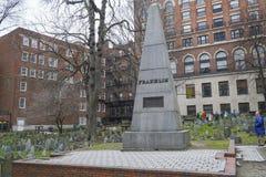 总统富兰克林Family Grave在波士顿-波士顿,马萨诸塞- 2017年4月3日 库存图片