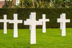富兰德领域美国公墓瓦勒海姆比利时 免版税图库摄影
