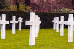 富兰德领域美国公墓瓦勒海姆比利时 免版税库存照片