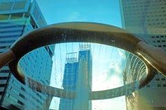 财富喷泉在鸭子的在新加坡 库存图片