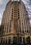 富国银行塔大厦的垂直的看法,罗阿诺克,弗吉尼亚,美国 免版税图库摄影