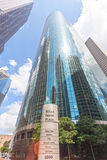 富国银行广场在休斯敦,得克萨斯 免版税库存照片