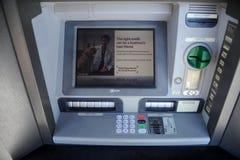 富国银行ATM机器 免版税库存照片