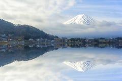 富士上面在日本 库存图片