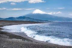 富士圣和静冈海岸 图库摄影