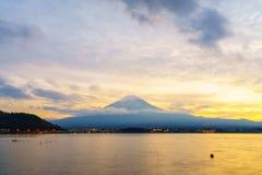 富士山日落,日本 免版税库存照片