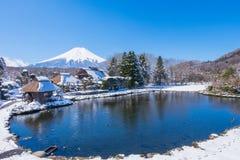 富士山景 库存照片