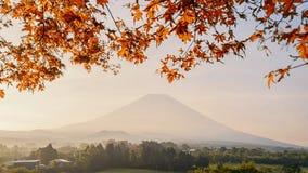 富士山美丽的景色  免版税库存图片