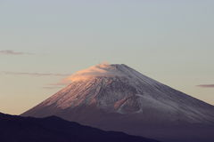 富士山,日落 免版税库存照片