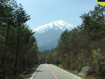 富士山更加接近的看法  免版税图库摄影