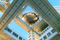 富士T v 总部在Odaiba,东京,日本 图库摄影