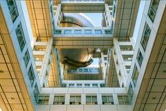 富士T v 总部在Odaiba,东京,日本 免版税库存图片