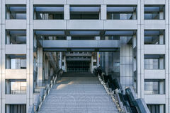 富士T v 总部在Odaiba,东京,日本 库存图片