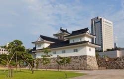 富山城堡在富山,日本 库存图片