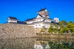 富山日本城堡 免版税库存图片