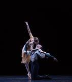 富感情的亲吻古典芭蕾` Austen汇集` 库存照片