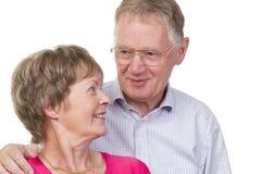富感情的夫妇前辈 库存照片