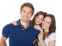富感情的家庭画象  免版税库存照片