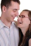 富感情的有吸引力的夫妇年轻人 免版税库存照片